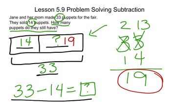 Lesson 5.9 Problem Solving-Subtraction | Educreations