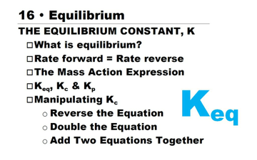 AP Ch 16 -- The Equilibrium Constant | Educreations